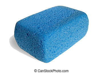 Sponge for cleaning on white background