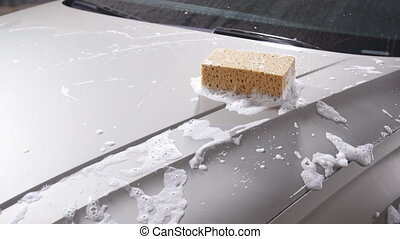 Sponge for the car for washing - Sponge and foam for the car...