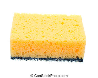Sponge for washing dishes isolated on white background