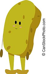 Sponge, illustration, vector on white background.