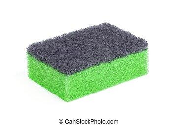 Sponge isolated on white