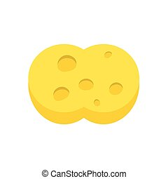 sponge on white background , vector