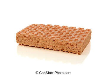Sponge on white with clipping path