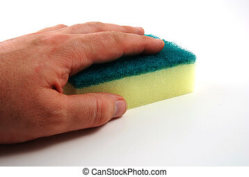 Sponge - stock pictures of a sponge used to clean dishes and...
