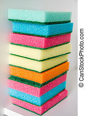 Sponges of different colors