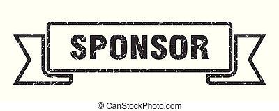 sponsor grunge ribbon. sponsor sign. sponsor banner