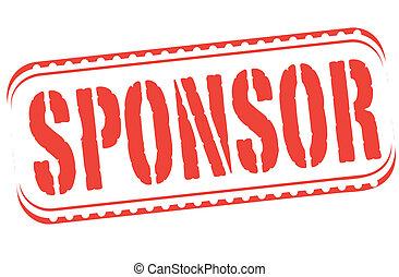 sponsor stamp - sponsor grunge stamp with on vector ...