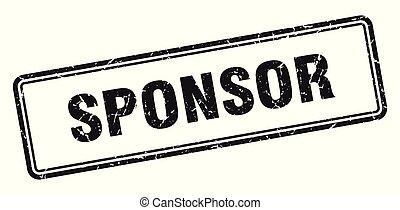 sponsor stamp. sponsor square grunge sign. sponsor