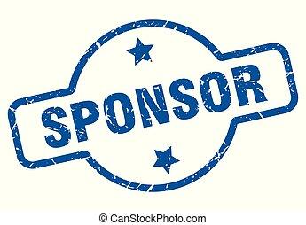 sponsor vintage stamp. sponsor sign