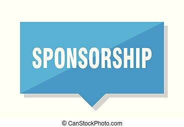 sponsorship price tag - sponsorship blue square price tag