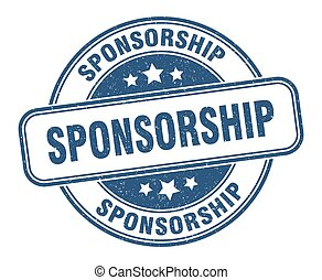 sponsorship stamp. sponsorship round grunge sign. label
