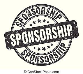 sponsorship stamp. sponsorship round grunge sign. sponsorship