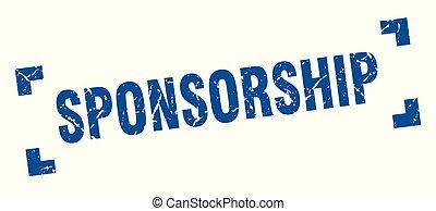 sponsorship stamp. sponsorship square grunge sign. sponsorship