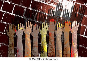 spontanéité, mains