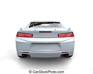 spook, zakelijk, auto, moderne, -, back, vasten, witte , aanzicht