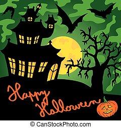 spooky, 01, groen huis