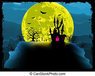 spooky, arrière-plan., halloween, eps, 8