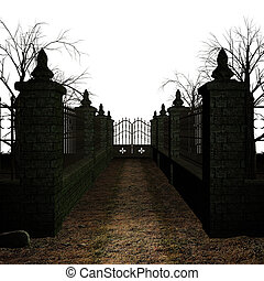 spooky, begraafplaats