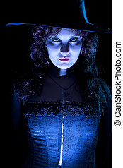 Spooky Blue Witch