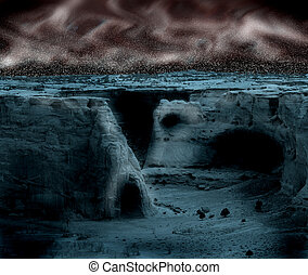 Spooky Canyon - Spooky, mystical rendering of ancient canyon...