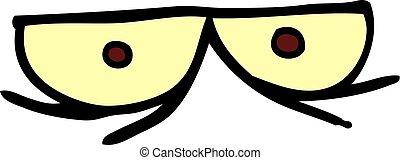 spooky cartoon doodle eyes