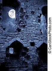 Spooky castle - A very spooky Halloween castle in the...