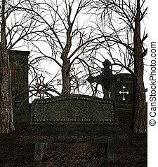 spooky, cimetière