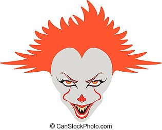 Spooky Clown Face