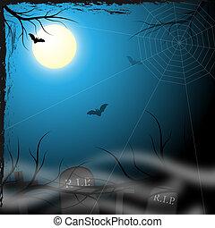 spooky, desenho, fundo