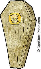 spooky, dessin animé, cercueil