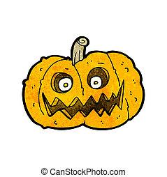 spooky, dessin animé, citrouille