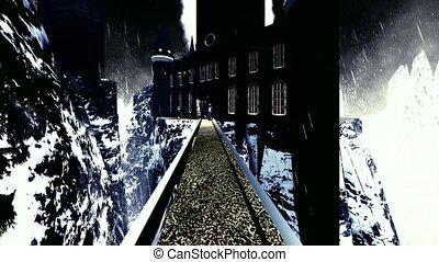 Spooky Dracula castle