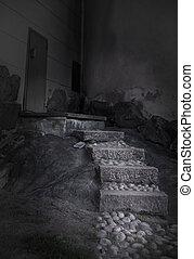 spooky, escalier