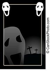 spooky, fond