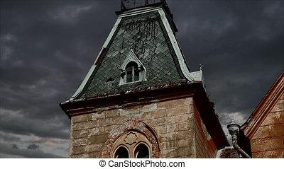 Spooky Garret Timelapse - Old mansion garret view with...
