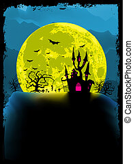 Spooky halloween background. EPS 8 vector file included
