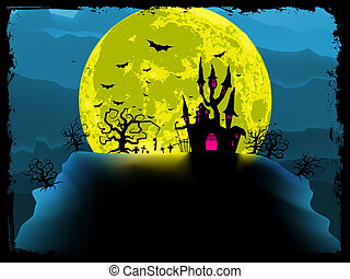 Spooky halloween background. EPS 8