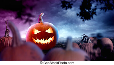 Spooky Halloween Background party Layout Design