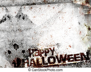 Spooky Halloween background with shadow of demon. Grungy ...