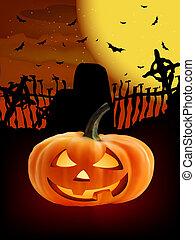 Spooky Halloween composition.