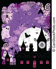 Spooky Halloween Design - An abstract spooky grunge ...