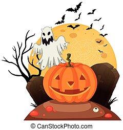 spooky, halloween, gabarit
