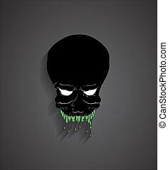 Spooky Halloween Ghost Face
