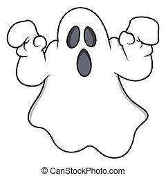 Spooky Halloween Ghost Vector - cartoon ghost - Halloween...