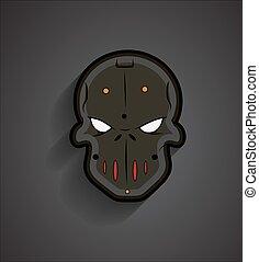 Spooky Halloween Mask Face
