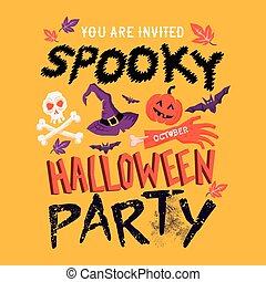 spooky, halloween partij