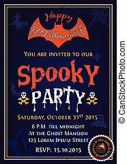Spooky Halloween Party invitation card