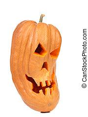 Spooky halloween pumpkin lantern.
