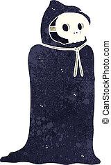 spooky, halloween, rysunek, kostium