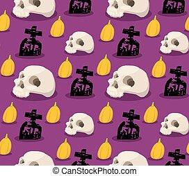 spooky, halloween, seamless, modèle